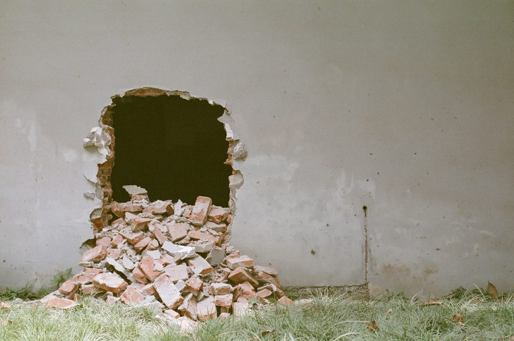 hole on the whall