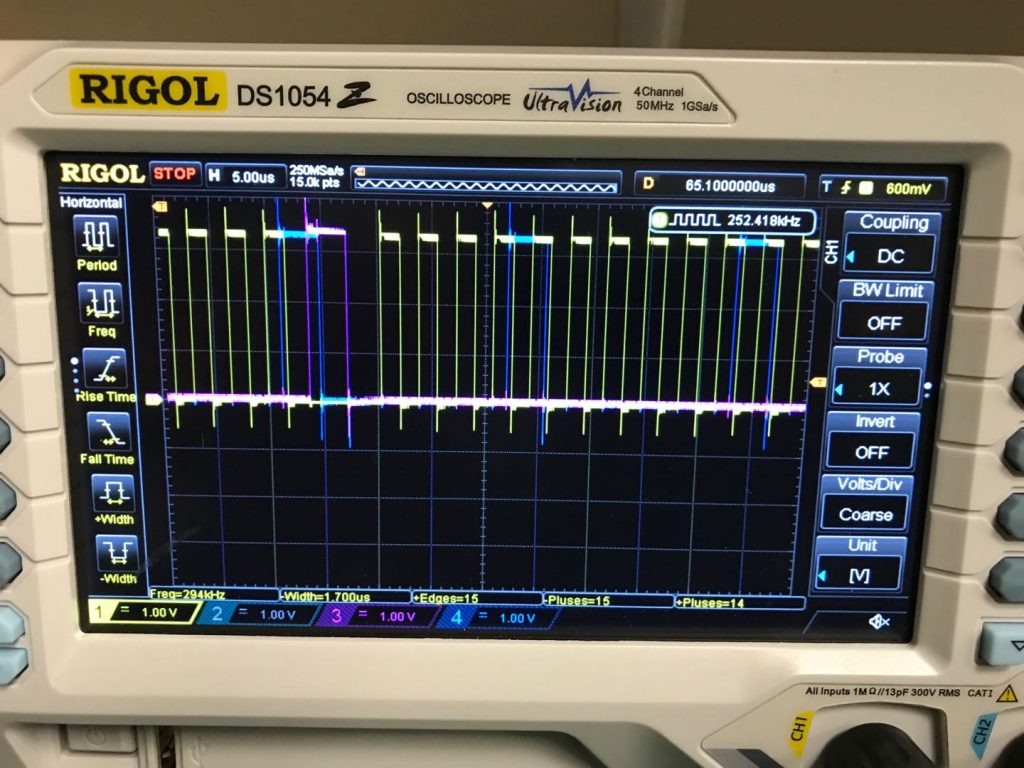 Clock signals on an oscilloscope
